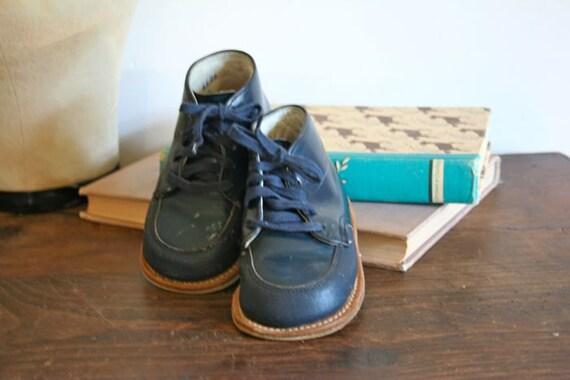 vintage toddler NAVY OXFORD shoes 5.5