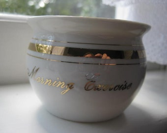 Vintage Novelty Cup / Goo Goo Eye / Morning Exercise