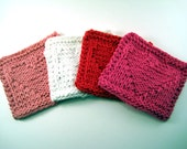 Hand Knitted Coaster Set - Hearts Collection