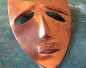 Vintage Drama Mask copper Pin