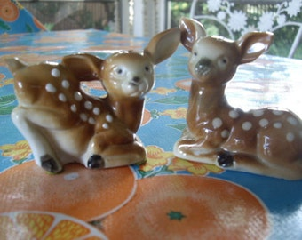 Vintage Spotted Fawn Salt and Pepper Shakers
