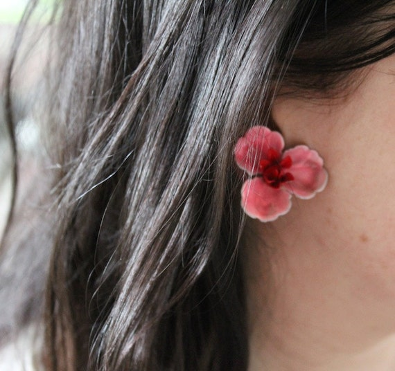 Vintage Monet clip on flower earrings with matching pin set