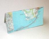 Florida Keys map checkbook cover