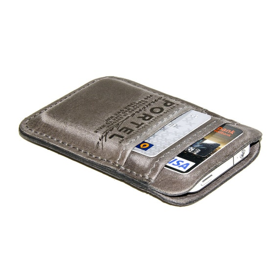 iPhone / iPod Touch - - RETROMODERN aged leather pocket - - GREY