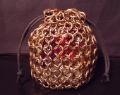 Chainmail Dungeons and Dragons DnD Dice Bag Med 5/16 Bronze