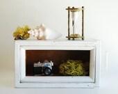 Vintage Wood White Drawer - Repurposed Display / Shadow Box
