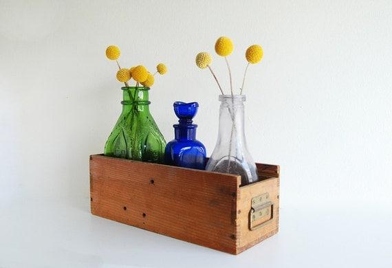 Vintage Wood Drawer - Repurposed Display / Organizer