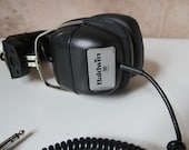vintage 60s 70s BALDWIN brand STEREO headphones with Iphone/Ipod/Walkman capacity
