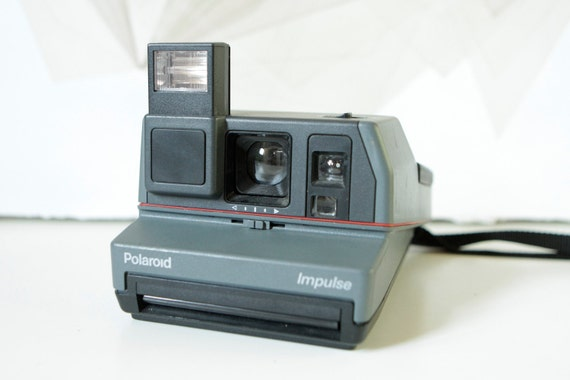 vintage POLAROID camera 80s 90s instant film--Tested & Works