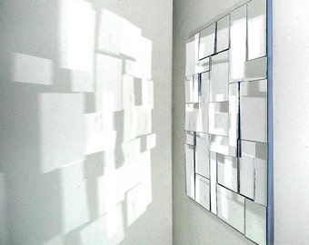 modern geometric mirror sculpture