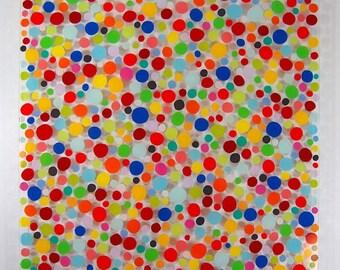 dots acrylic painting