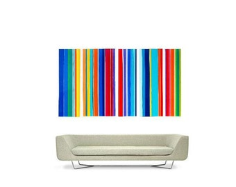 Large Stripes solid acrylic artwork