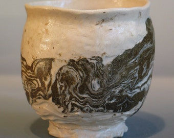 Hand Formed Yunomi Japanese Style Tea Cup Watson  artist signed