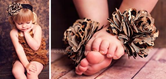 Leopard print barefoot sandals