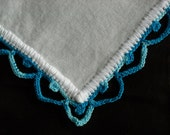 Blues Crochet Trimmed Handkerchief