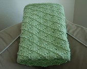 Pea Green Baby Blanket