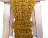 Chunky Rib Scarf in Butterscotch