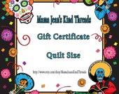 Christmas Gift Certificate for a Custom Order Quilt available today