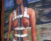 Queen Size Quilt Broken Column by Frida Kahlo Custom Order