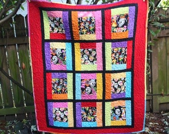 Day of the Dead Custom Order Throw Size Quilt Today