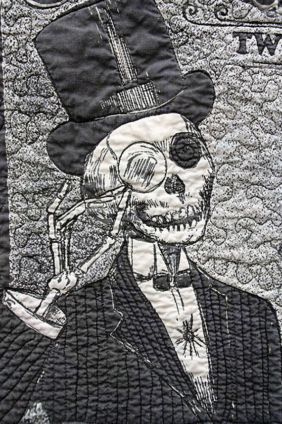 Day of the Dead Throw Size Quilt Custom Order Yours Today Carbarlick Acid Two Step Day of the Dead Quilt