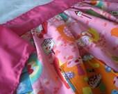 girlie medium  half apron for toddler girl REVERSIBLE