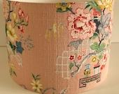 Azalea - vintage barkcloth lampshade