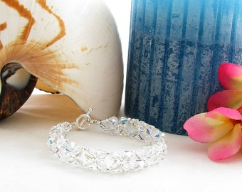 Wedding Bracelet with Sparkly Swarovski Crystals