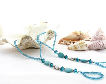 Blue Gemstone Barefoot Sandals