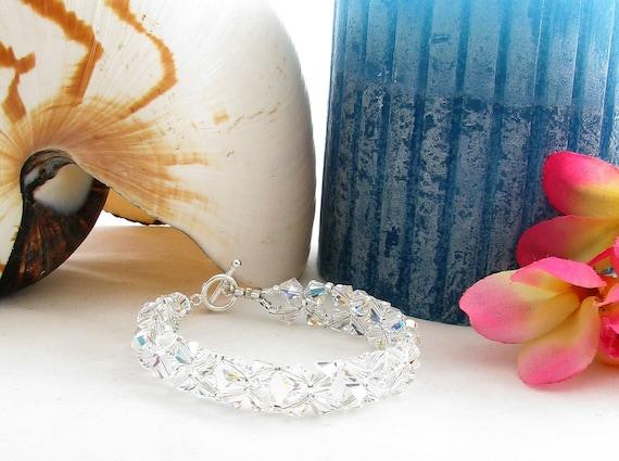 Wedding Bracelet with Sparkly Swarovski Crystals