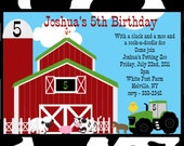 Farm Birthday Invitation - Printable or Printed - Petting Zoo Birthday Party Invitations - Farm 1st Birthday Invite for Girls or Boys