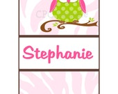Personalized IPhone Case Cover Personalized IPhone 4 and 4S Polka Dot Owl, WARRANTY INCLUDED