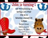 Cowboy Birthday Invitations Cowboy Birthday Party Invitations Barnyard Birthday Invitation Printable Digital