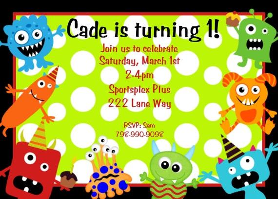 little monster birthday invitation monster birthday party