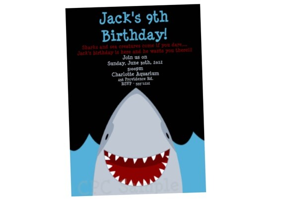 Shark Party Invitations was very inspiring ideas you may choose for invitation ideas