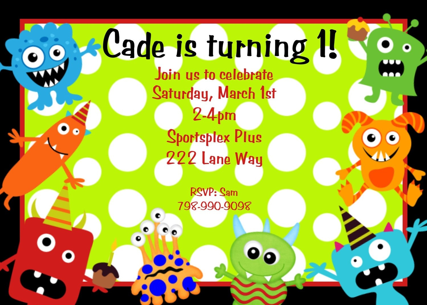 Little Monster Birthday Invitation Monster Birthday Party