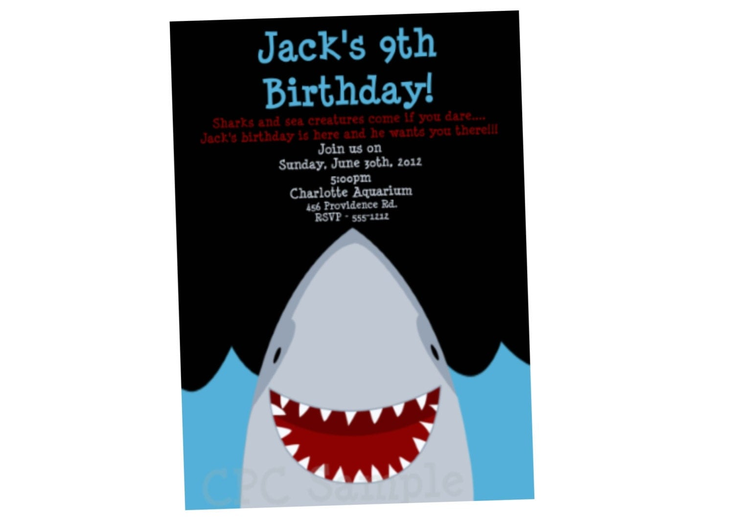 Shark Birthday Invitation Shark Party Invitations Printable