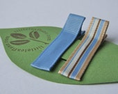 Sky Blue and Khaki Hair Clips