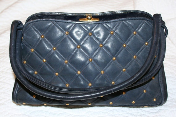 Mr Jay Leather Vintage Purse with coin purse quilted coco style SALE PRICED