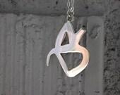 Sterling Silver graffiti necklace