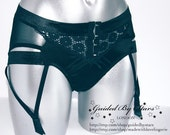 Black Daisy Suspender Short