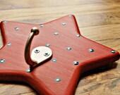 Star coat hook Wall hook for kids Star wall hook Star hook Wooden star hook