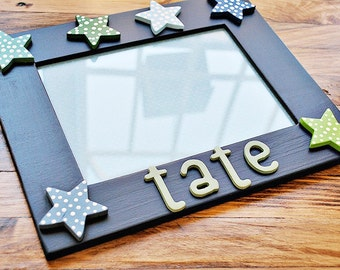 Star picture frame for kids Star frame for children Personalized star frame for children