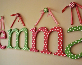 Wooden letter Wall letters hand painted letters for wall childrens wall letters by oscar & ollie