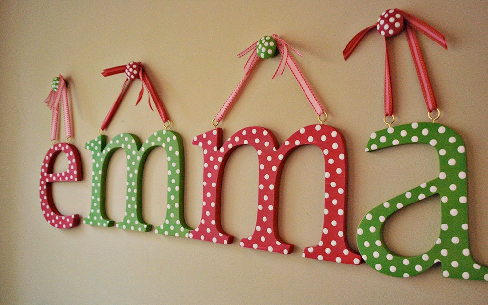 Wooden letter Wall letters hand painted letters by oscarandollie