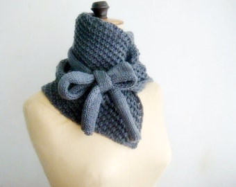 Knit Cowl Pattern, Neck Warmer Knitting Pattern, Scarf Pattern Tutorial