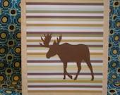 Handmade Blank Moose Card