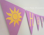 Tangled Happy Birthday Banner