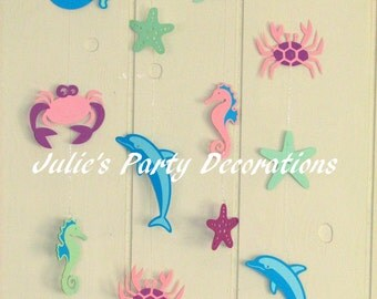 Under the Sea birthday party baby shower decorations Beach Mermaid