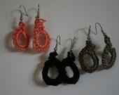 small knit earrings